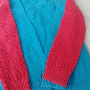 Lot of 2 cable knit sweaters . size small